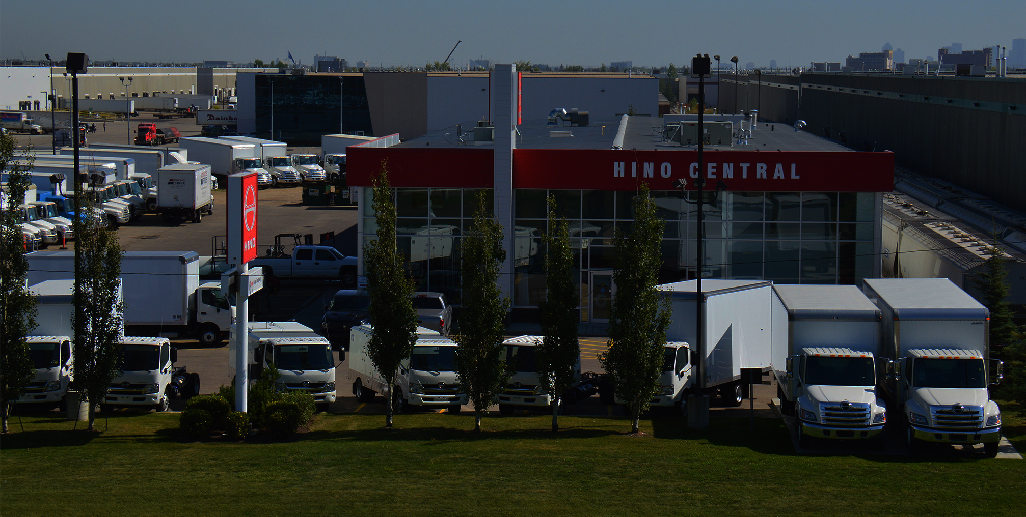 Conveniently located in west Edmonton, Hino Central features highway access and plenty of parking.